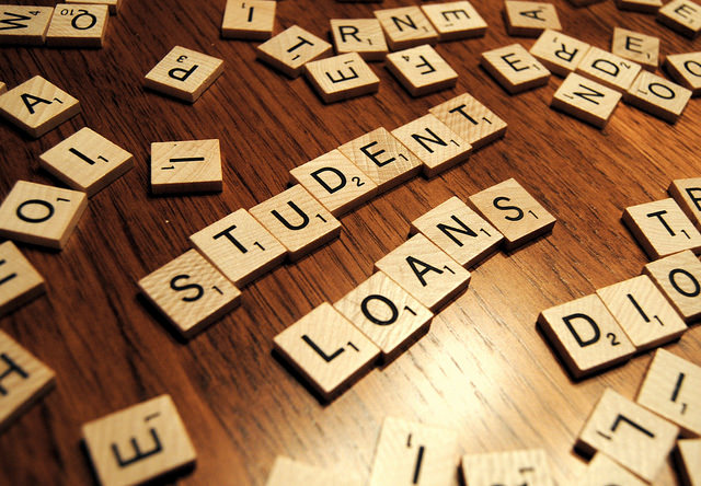 Student Loans Scrabble Tiles